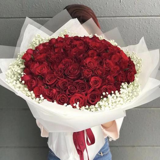 99 роз️: букеты цветов на заказ Flowwow