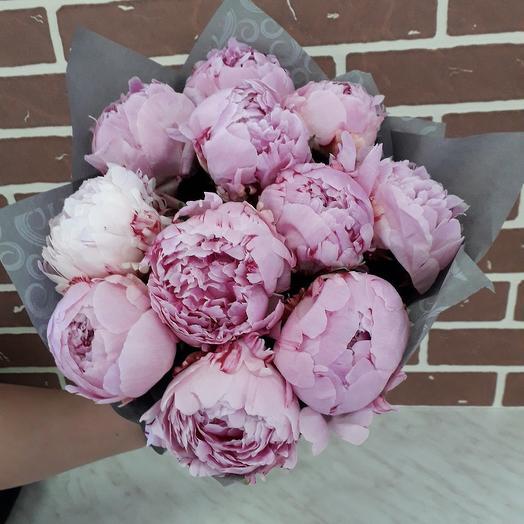 11 пионов Сара Бернар: букеты цветов на заказ Flowwow