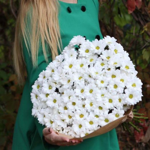 Bouquet of white crysanthemus: flowers to order Flowwow