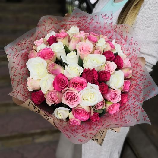 51 кенийская роза: букеты цветов на заказ Flowwow
