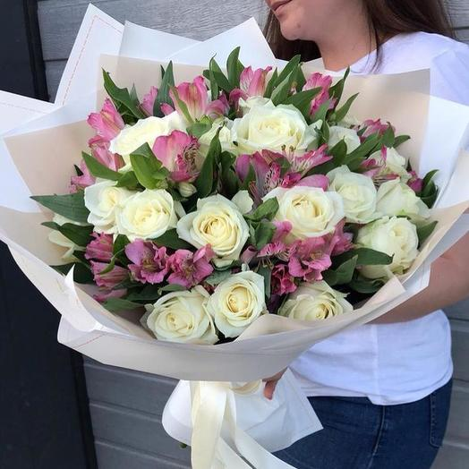 """Сборный букет """"Воздушная нежность"""": букеты цветов на заказ Flowwow"""
