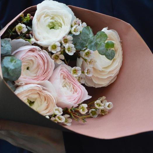"""Букет цветов """"Нежные Ранункулюсы"""": букеты цветов на заказ Flowwow"""
