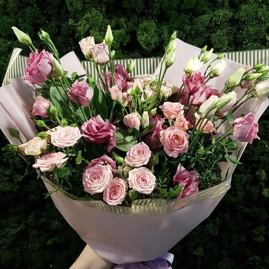 Розовый фонтан