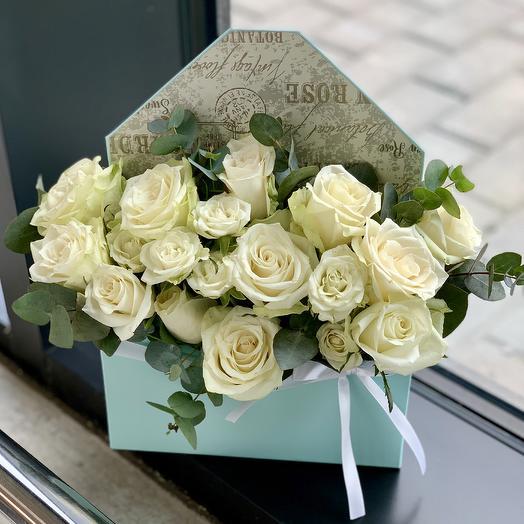 """Композиция """"Конверт с цветами»: букеты цветов на заказ Flowwow"""