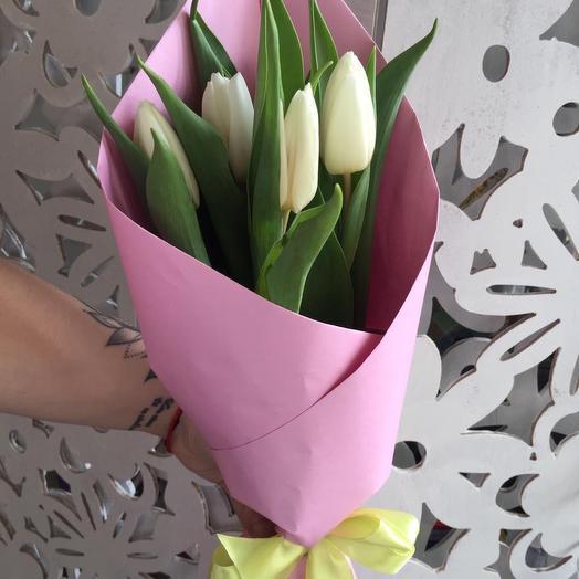 5тюльпанов в крафте: букеты цветов на заказ Flowwow