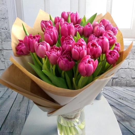 Букет из 31 розового тюльпа