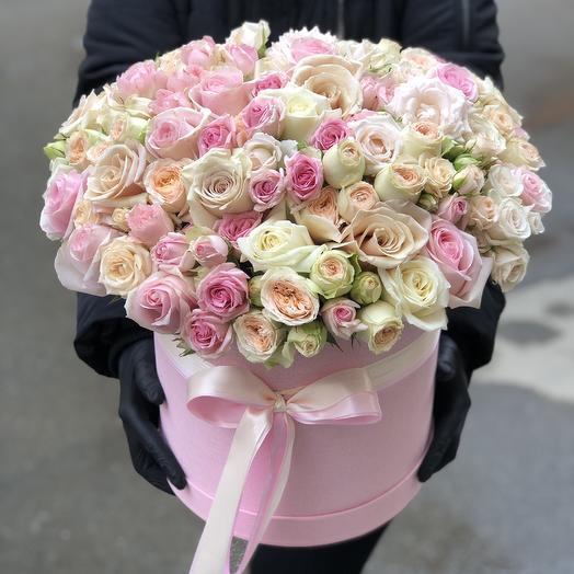 Цилиндр с розами «Великолепие»