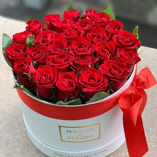 Коробка из 21 роз: букеты цветов на заказ Flowwow