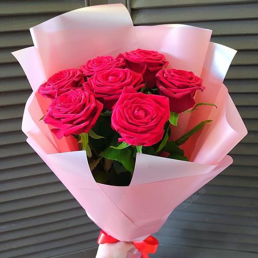 """Красные розы в оформлении """"Только для тебя"""""""