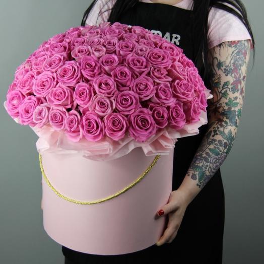 """шляпная коробка """"Розовый восторг"""""""
