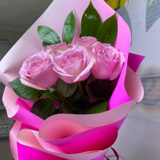Мини букет розовый