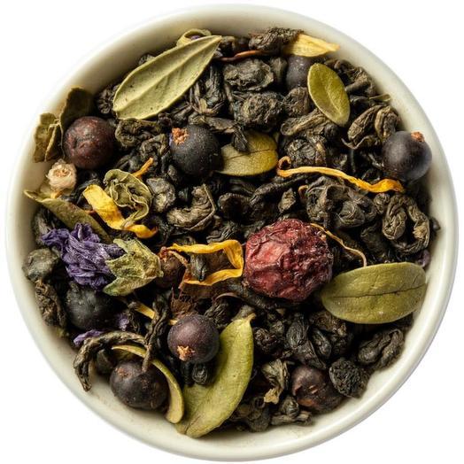 Зеленый Чай с клюквой и брусничным листом - Таежный сбор