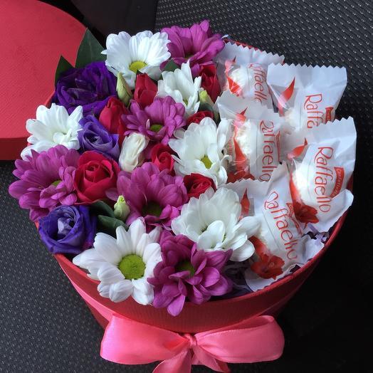 Цветы и рафаэлло 3