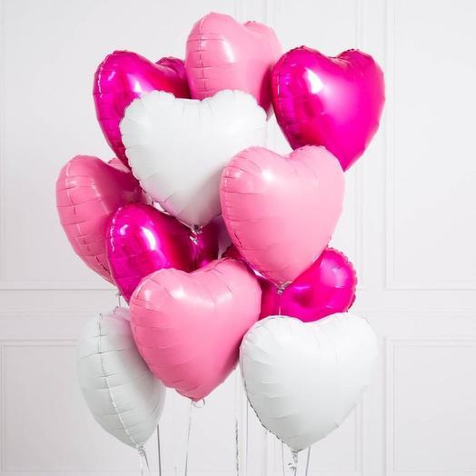 Набор 13 сердец