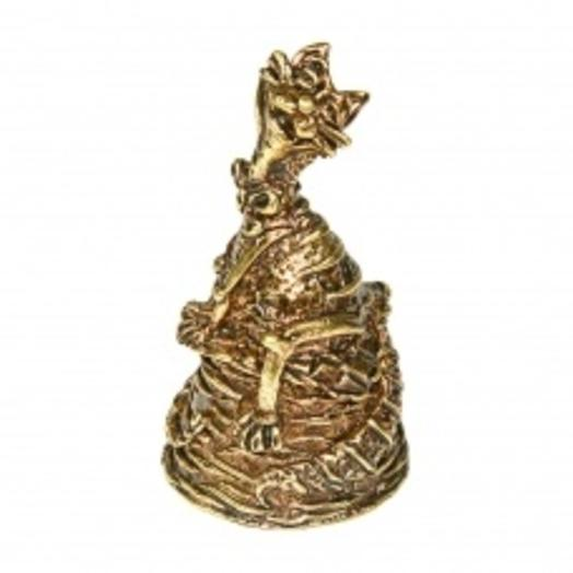 Колокольчик бронзовый Кот на корзинке 5,5 см