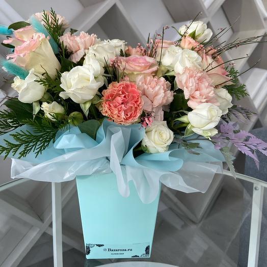Цветы в коробке Трапеция Тиффани
