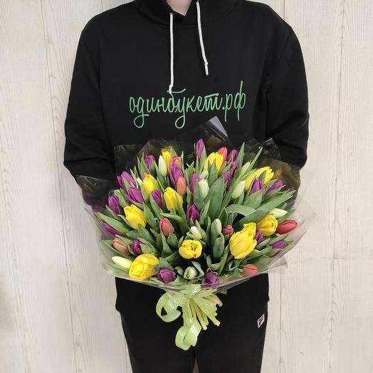Яркий букет из тюльпанов;)