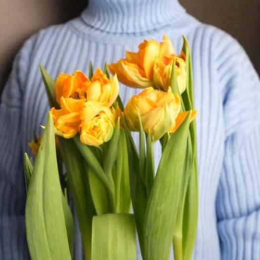Пионовидные тюльпаны 9 шт
