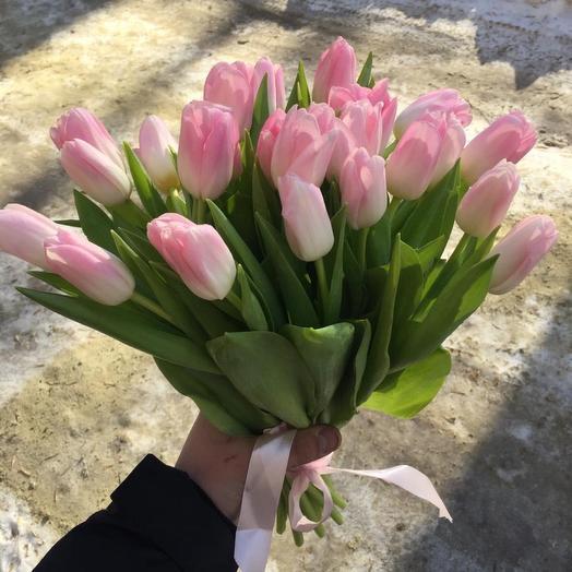 27 розовых тюльпанов