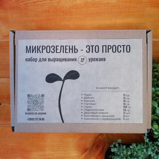 Семена микрозелени, набор