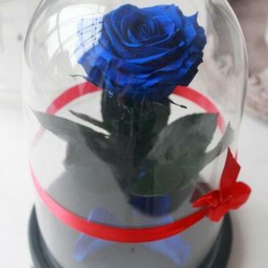 Роза в колбе Premium Синия