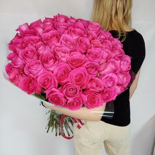 55 роз сорта Пинк Флойд