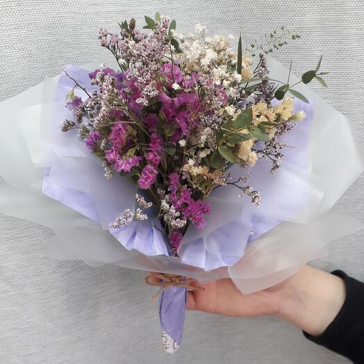 Букет-комплимент из сухоцветов