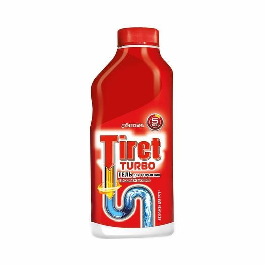 Гель для устранения засоров Tiret Turbo 500мл