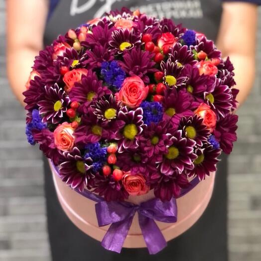Цветы в коробке 0657