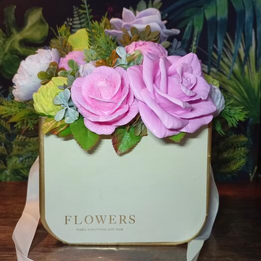 Букет из мыльных цветов ( 1.4 кг)