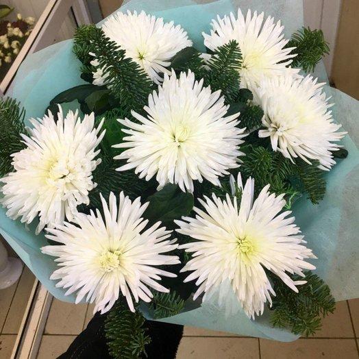 Букет одноголовых хризантем: букеты цветов на заказ Flowwow