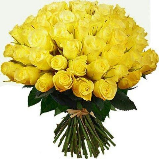 Букет  Солнечный из 51 розы: букеты цветов на заказ Flowwow