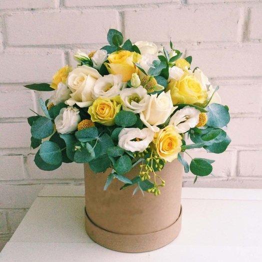 Шляпная коробка Утро: букеты цветов на заказ Flowwow
