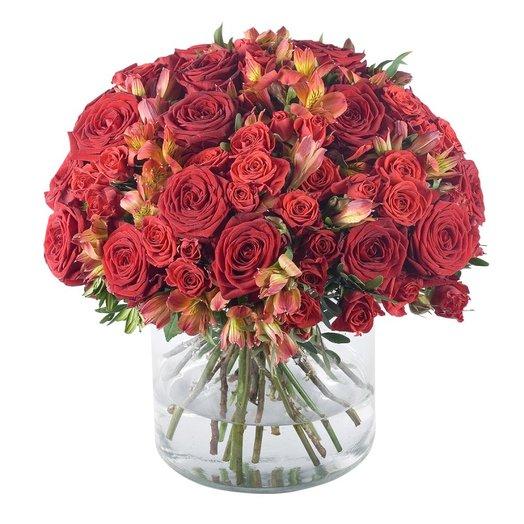 Пламенный красный : букеты цветов на заказ Flowwow