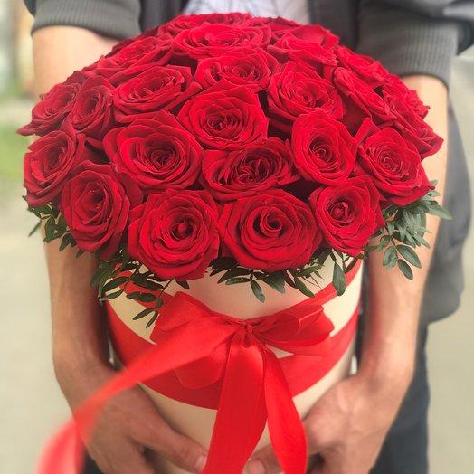 Коробки с цветами. Розы. Красные. N152