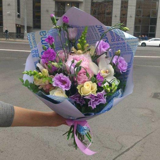 Нежный, букет в сиренево-розовых тонах.: букеты цветов на заказ Flowwow