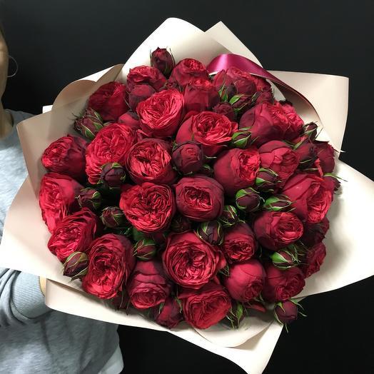 Роскошные пионовидные розы: букеты цветов на заказ Flowwow