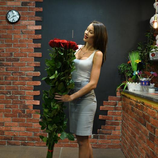 11 роз 150 см в букете: букеты цветов на заказ Flowwow