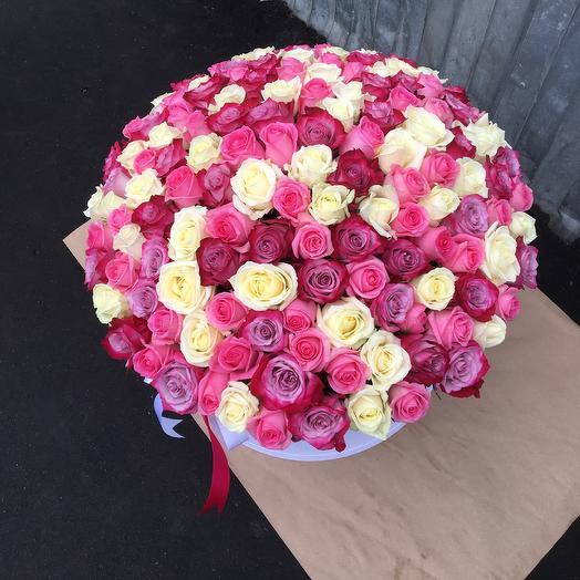 Огромная коробка Нюда🍃: букеты цветов на заказ Flowwow