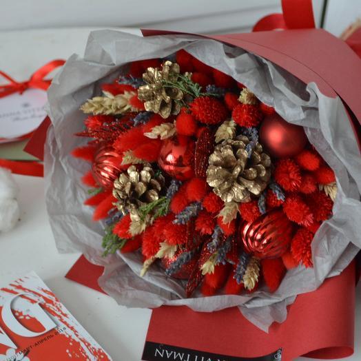 Золотой декабрь: букеты цветов на заказ Flowwow