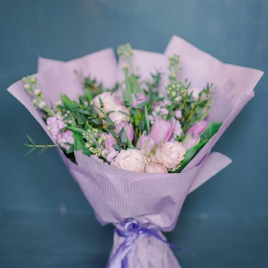 "Букет ""Сиреневая романтика"": букеты цветов на заказ Flowwow"