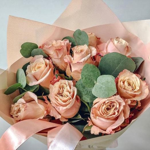 Букет « Персиковое смузи»: букеты цветов на заказ Flowwow
