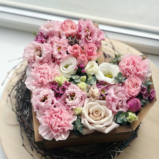 Box heart: букеты цветов на заказ Flowwow