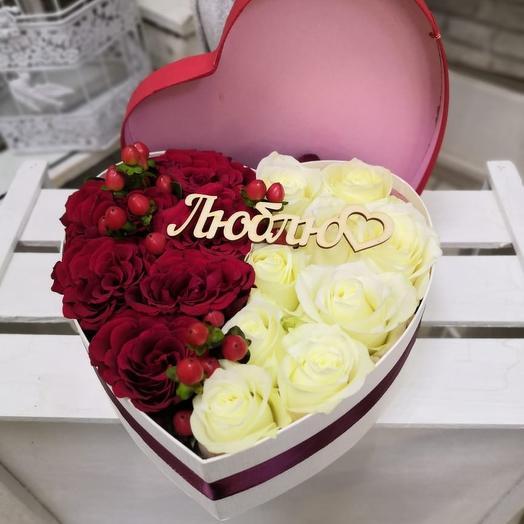 Сердце Love: букеты цветов на заказ Flowwow