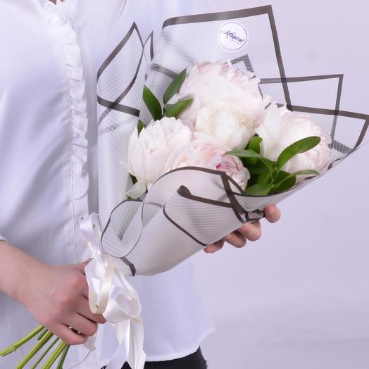 Букет Из 5 Пионов: букеты цветов на заказ Flowwow