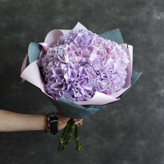 Букет из сиреневых гортензий: букеты цветов на заказ Flowwow