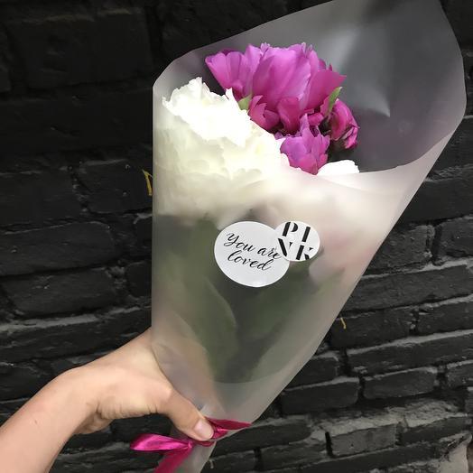 Ароматный пион -микс: букеты цветов на заказ Flowwow