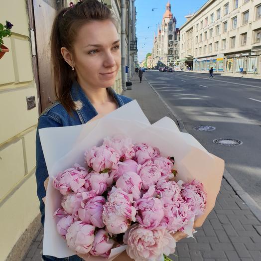 Букет пионов САРА БЕРНАРД Премиум: букеты цветов на заказ Flowwow