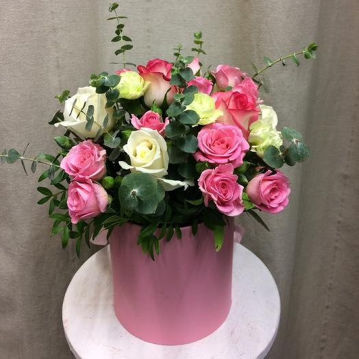 Шляпная коробка «My fair Lady»: букеты цветов на заказ Flowwow
