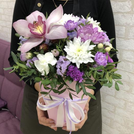 Вечерняя фиалка💜: букеты цветов на заказ Flowwow